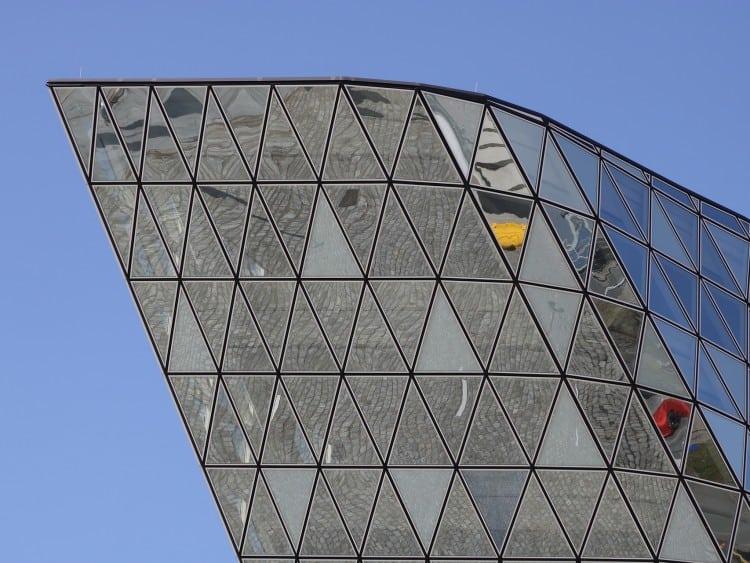 Glazen bovenkant van het Havenhuis
