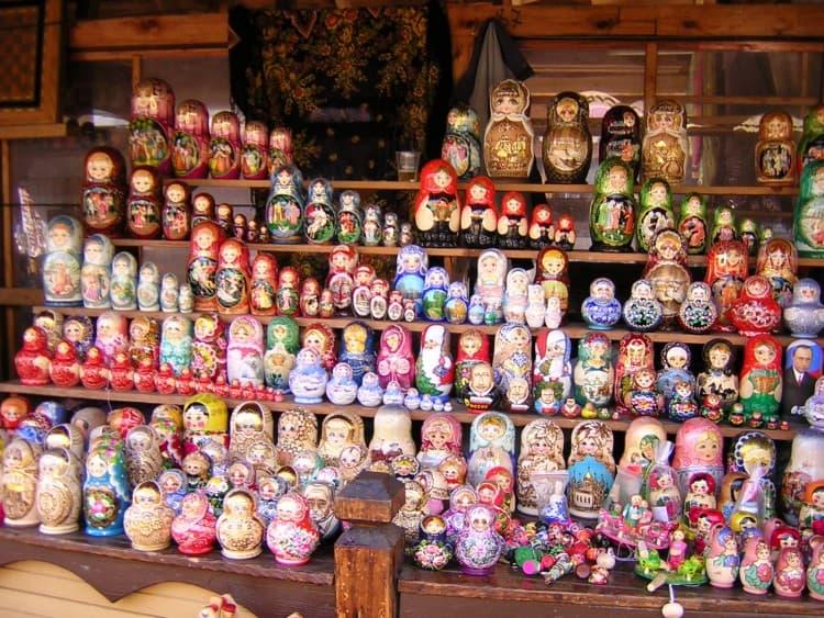Matroesjka's op de Izmailovsky Bazar / Souvenir Market