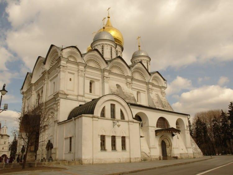 Archangel's Cathedral, één van de musea die je kunt bezoeken in het Kremlin