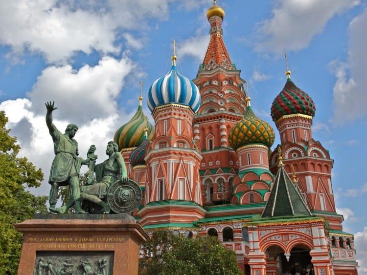 St. Basil's Cathedral aan het Rode Plein in het Kremlin