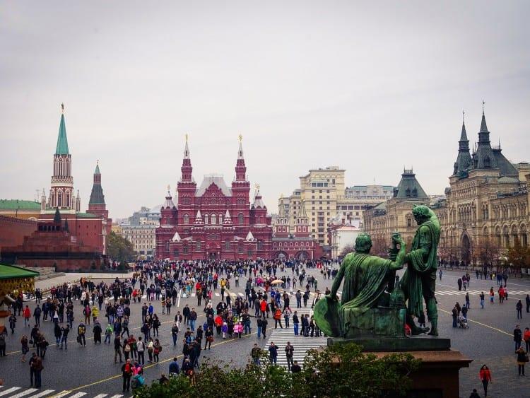 Uitzicht op het Nationaal Historisch Museum over het Rode Plein