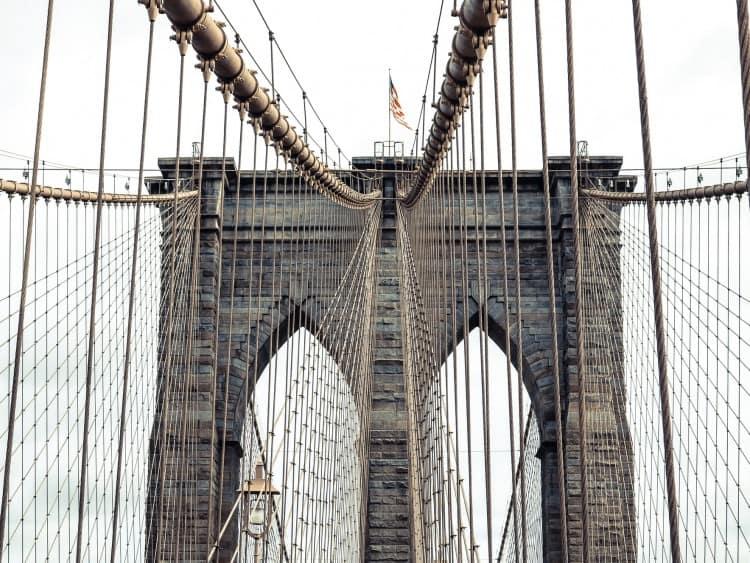 Kabels van de Brooklyn Bridge