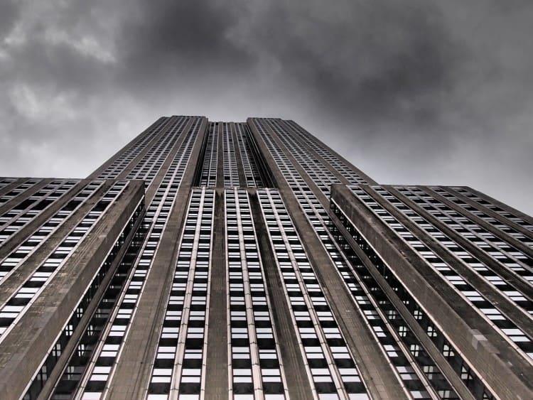 Empire State Building vanaf de grond gezien