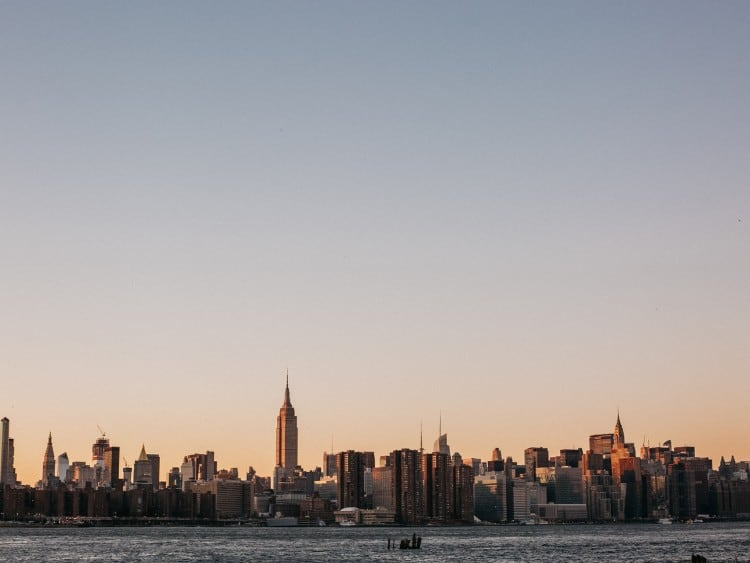 New York skyline met het Empire State Building