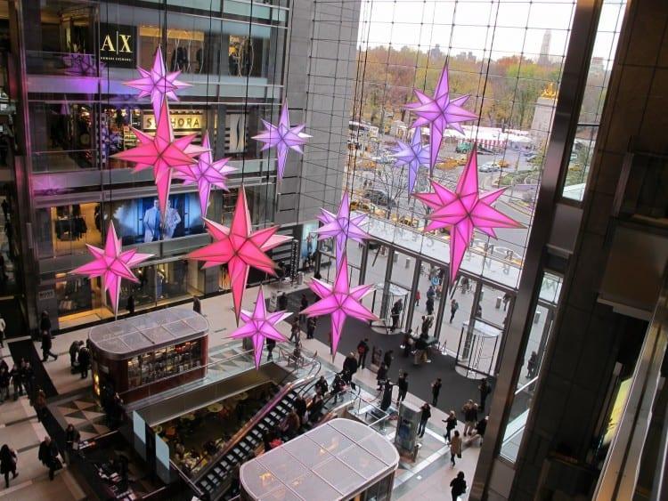 Sterren in het Time Warner Center