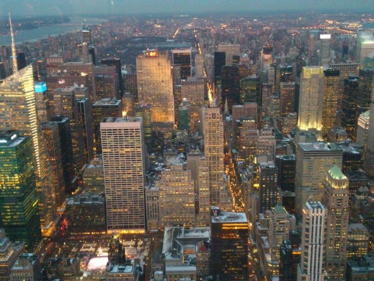 Uitzicht op Central Park vanaf het Empire State Building