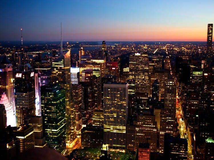 Zonsopkomst vanaf het Empire State Building